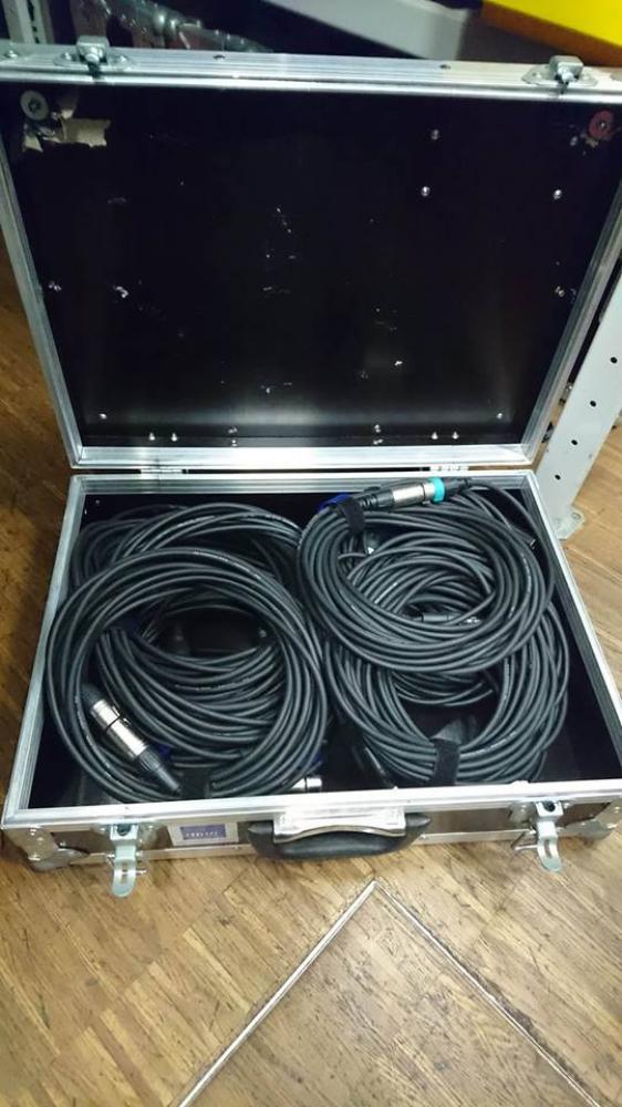 Mikrofon Kabel KOFFER 12 Stueck/10m